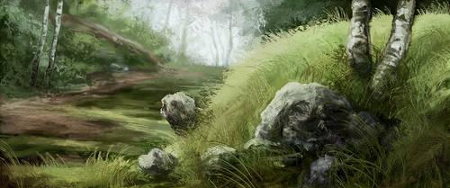 Landscape study 091229 by Noukah