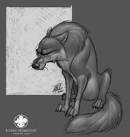 Sketch: Grumpy Wolf