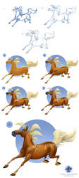 Paint a horse in 8 steps by Noukah