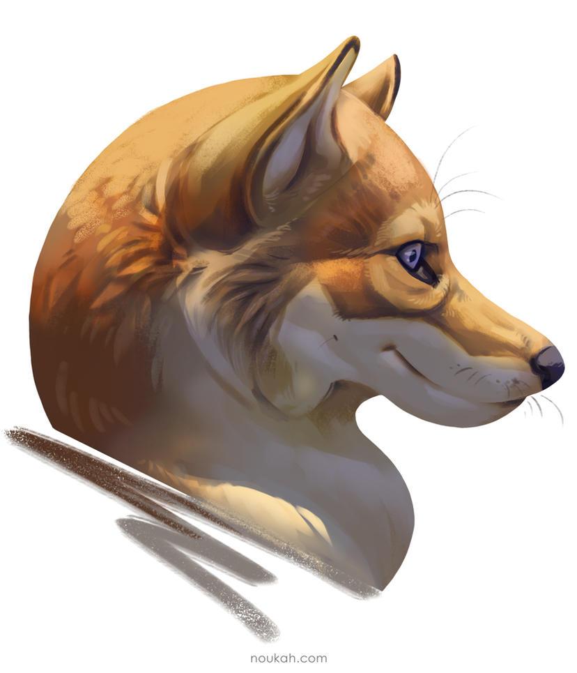 Shibafoxwolf + Bonus painting tutorial by Noukah
