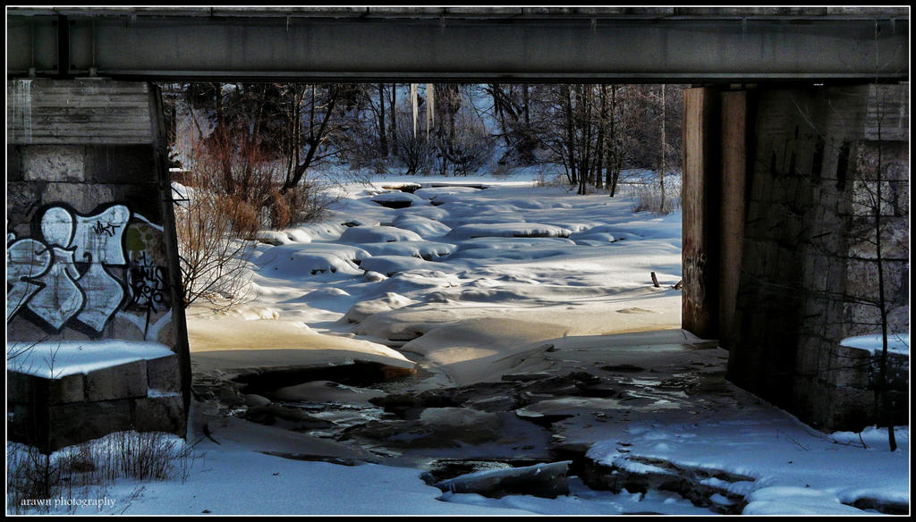 Frozen River by Arawn-Photography