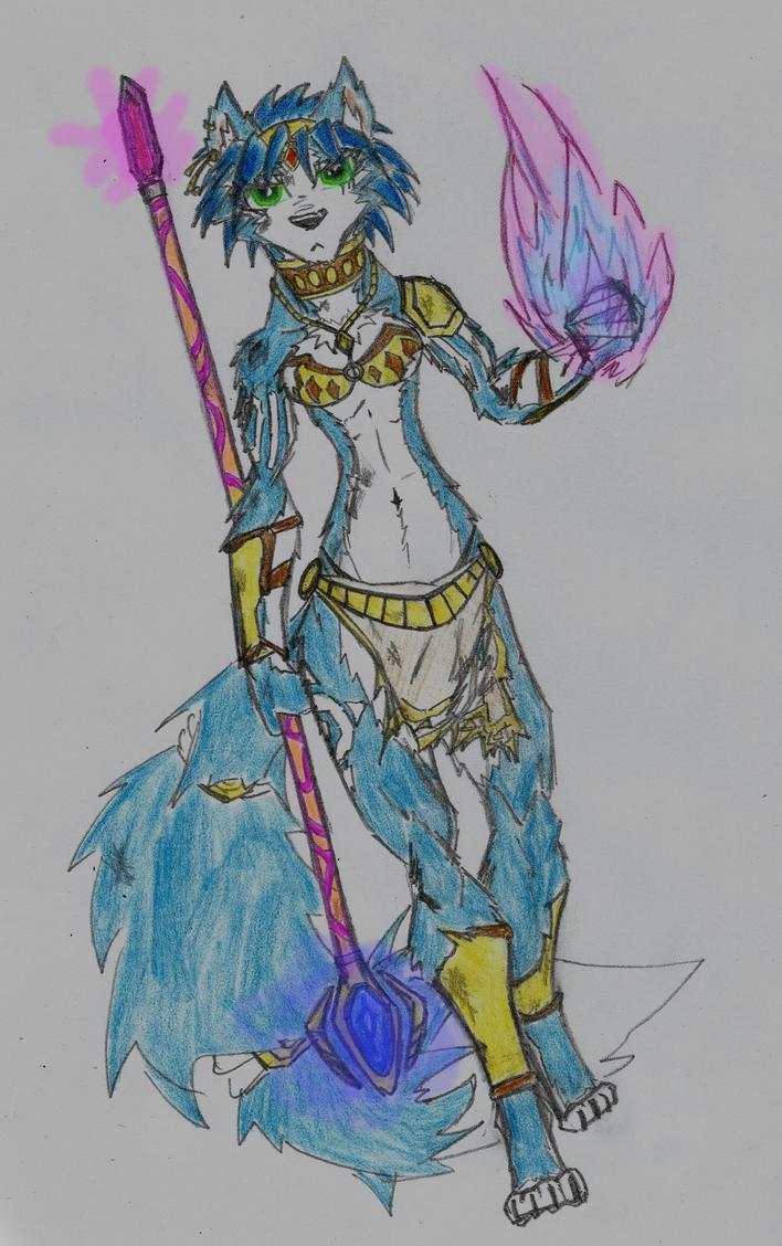 Krystal (battle damaged) by DestinySpider