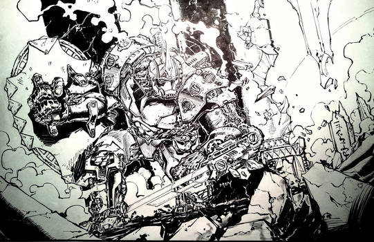 Inked Warforge/Mech - Still WIP.