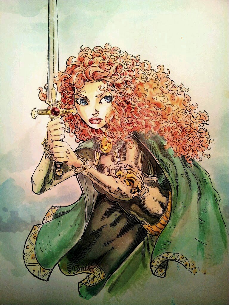 brave watercolor by bezawesome - photo #4