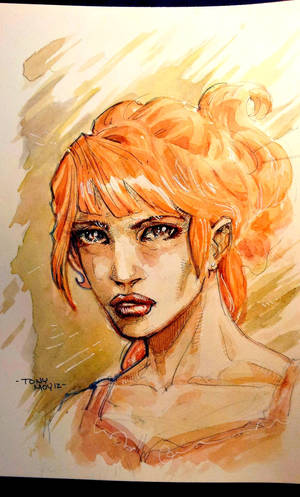 What is it about the Red Heads? - Watercolor