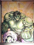 Watercolored and Inked Incredible Hulk