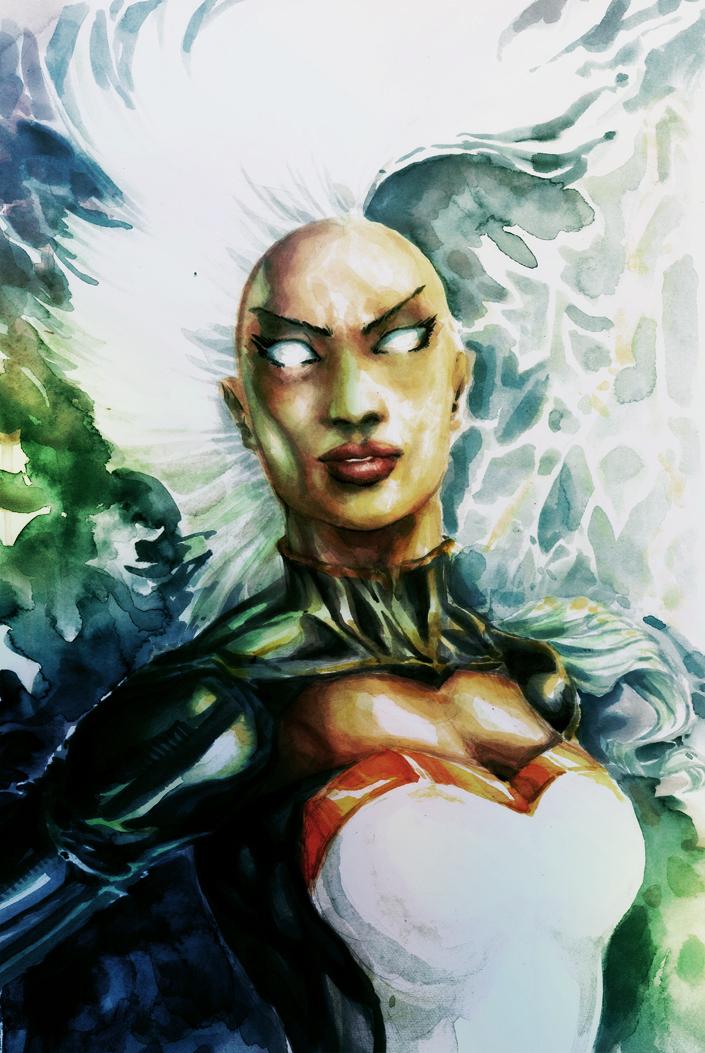 Watercolored X-Men Ororo Munroe (Storm) by dreamflux1 on DeviantArt
