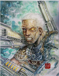 Cable watercolored by dreamflux1