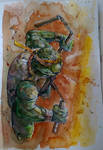 Michelangelo - TMNT - Watercolor
