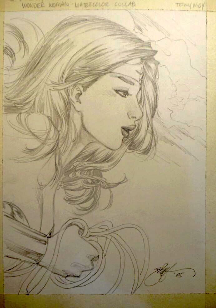Wonder Woman - Dawn of Justice - Pencils by dreamflux1