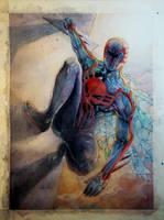 Spiderman 2099 - Watercolor by dreamflux1