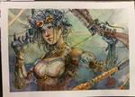 Lady Mechanika - Watercolor - Steampunk