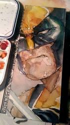 Wolvering Profile Watercolor