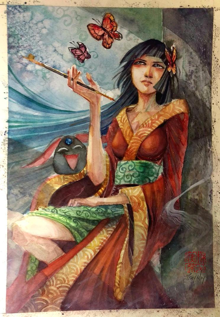 Yuuko from xxxholic - Watercolor by dreamflux1