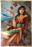 Yuuko from xxxholic - Watercolor