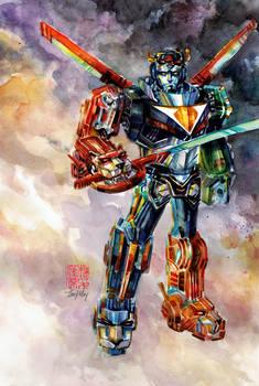 Voltron: Legendary Defender in Watercolor