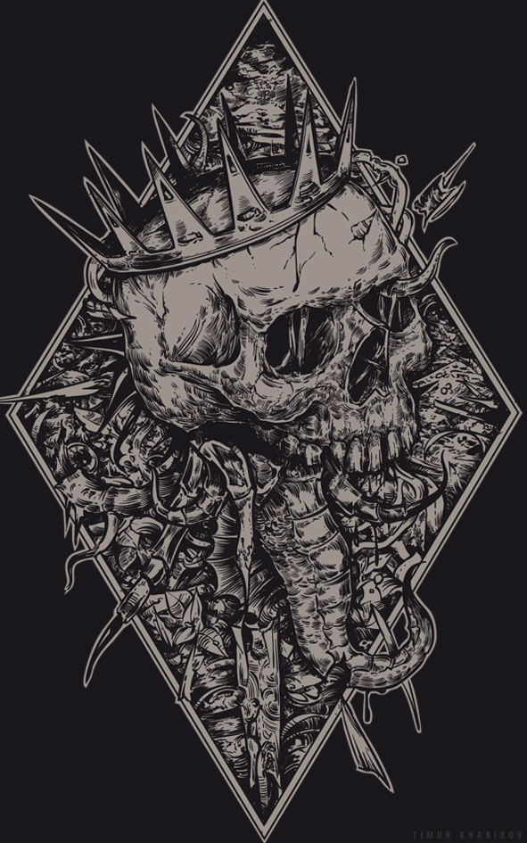 seahorse black by TimurKhabirov