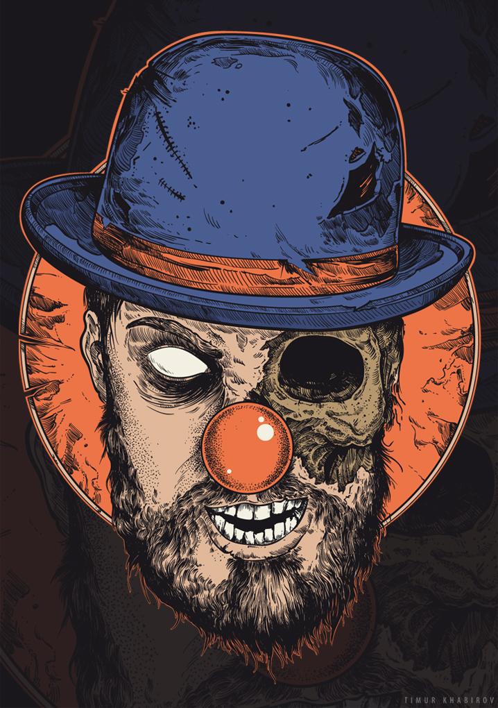 Evil clown (clr version) by TimurKhabirov
