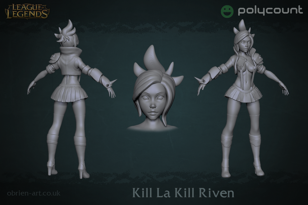 Kill la Kill Riven - High Poly by Byren