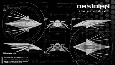Obsidian Strike Cruiser 2 by EbonNebula
