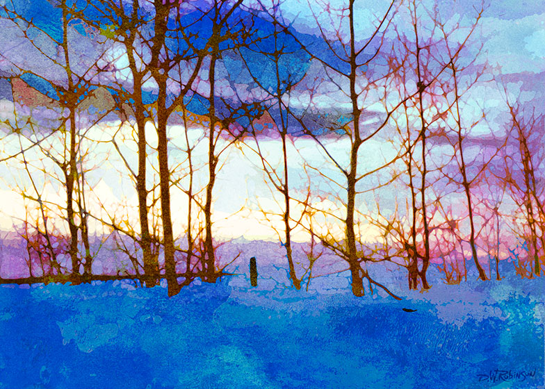 Winter Trees At Sunset No. 1 by wooden-horse