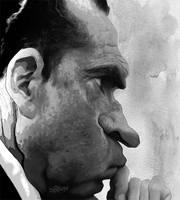 Richard Nixon by wooden-horse