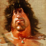 Sylvester Stallone as Rambo by wooden-horse