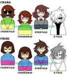 Chara and Frisk multiverse