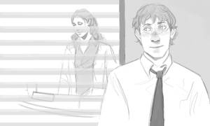 Jim and Pam doodle
