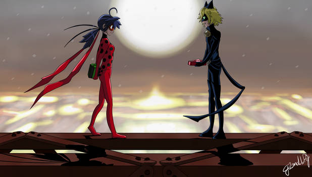 PV Ladybug and Chatnoir Christmas by SEGLDRAWS