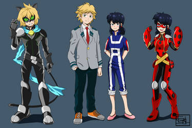 Miraculous Hero Academia by SEGLDRAWS