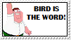 Bird is the word Stamp by Lady-Autobot17