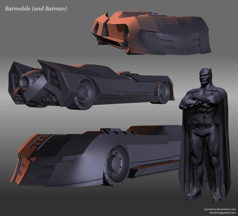 batmobile and batman by pyroxene on deviantart. Black Bedroom Furniture Sets. Home Design Ideas