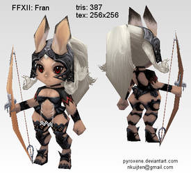 Lowpoly Fran by Pyroxene