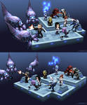 Lowpoly mini Mass Effect scene - hires tex version