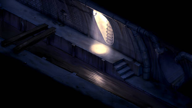 2D survival horror game mockup - sewers