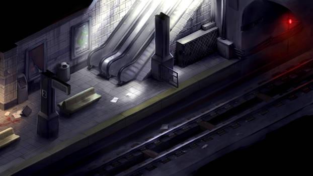 2D survival horror game mockup - subway