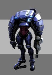 Mech armor suit concept by Pyroxene