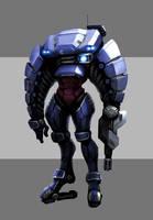 Mech armor suit concept
