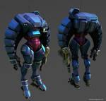 Mech armor suit lowpoly