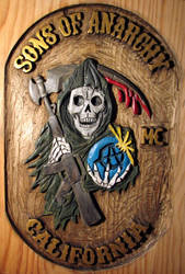Sons of anarchy - wood carving by olivelebasque