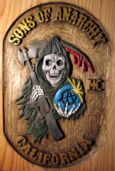 Sons of anarchy - wood carving
