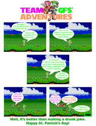 Team GFs' Adventures - St Patrick's Day Comic