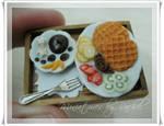Dollhouse Size Yummy Waffle