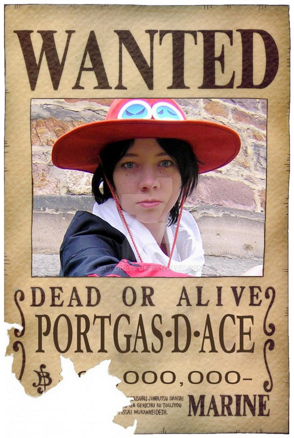 One Piece - Wanted 'Ace' by das-Diddy on DeviantArt