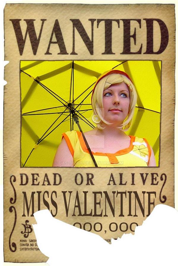 One Piece   Wanted U0027Miss Valentineu0027 By ...