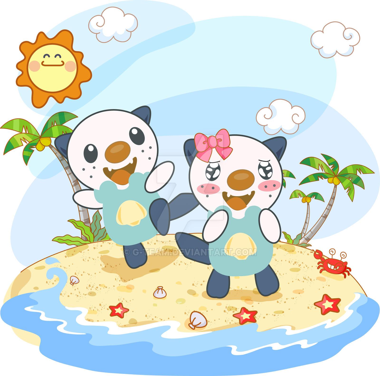 Couple on the Beach by G-Team