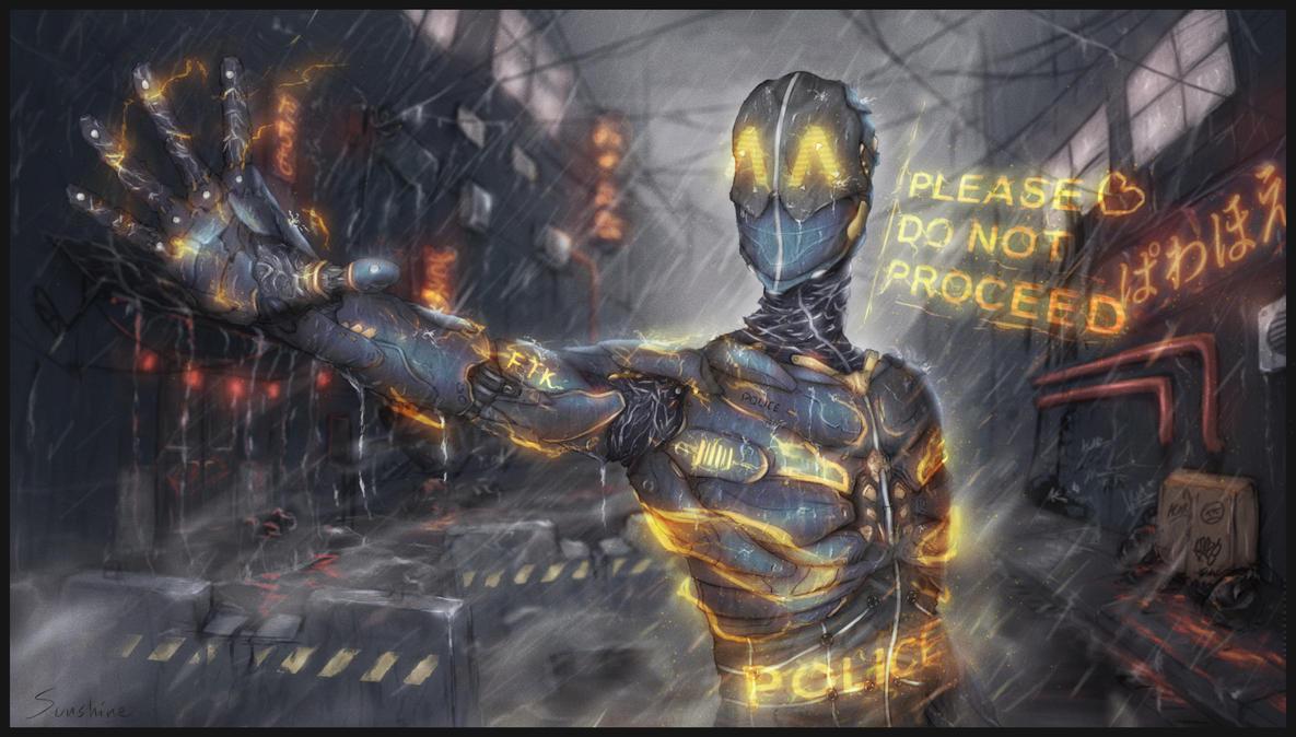 wallpaper cyberpunk metropolis robots - photo #33