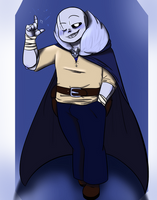 Classic!sans Redesign/My version if he was a guard by AndHisPalMugMan