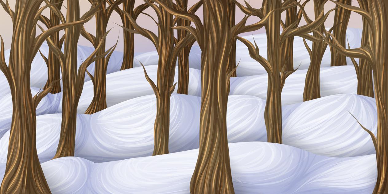 Snowy Forest by xx-Arccy-xx